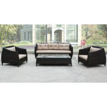 Moderno 4 peças de conjunto de sofá de jardim Rattan ao ar livre (OT21)