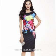 Chine Vêtements d'échantillons gratuits Vêtements Européens Robe Floral Robe Femme SD05
