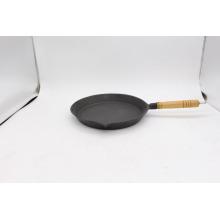 Sartén encerada con mango de madera para cocinar