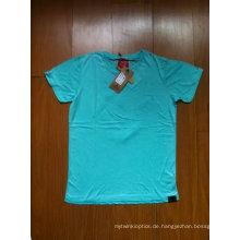 100% Baumwoll-Jersey 180GSM T-Shirt mit Dirty Wash