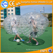 Giant clear human sized hamster ball, best selling inflatable buddy belly bumper ball