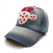100% Cowboy-Material für schwere gebürstete Logo Chilren Cap gute Qualität