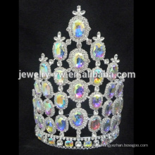 Venta al por mayor tiaras rhinestone corona de la reina de belleza