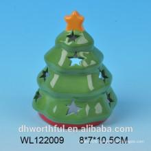 2016 ceramic Christmas tree candle holder