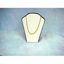 Venta al por mayor amarillenta grabada del soporte de exhibición del collar de la joyería de la PU (NS-BL-K1P1)