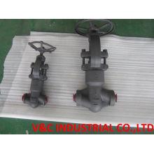 ANSI soquete soldado forjado de aço carbono válvula de globo (Class150 ~ 600)