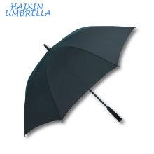 2017 rejilla de golf de alta calidad sólida Pongee barra de fibra de vidrio promocional promocional recto paraguas fábrica