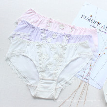 Japaness Teenage Sweety Girl Pantities Informes florales 3D Ropa interior de algodón suave
