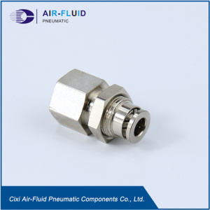 Air-Fluid Pneumatic Push in Fittings Bulkhead