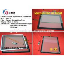 Für POS Monitor Wasserdicht 10 Zoll 12,1 Zoll Touchscreen mit 5 Drähten FPC