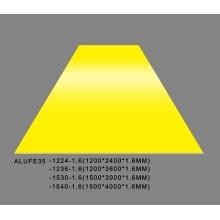 Plaque de feuille en aluminium jaune brillant de Feve 1.6mmThick 5052 H32 1500 * 3000mm