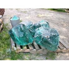 Transparente rocas de vidrio de colores