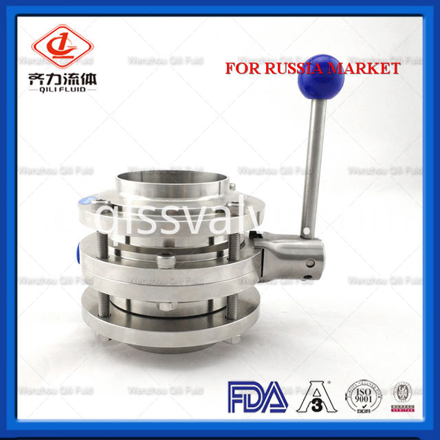 Sanitary Stainless Steel Butterfly Valve 114