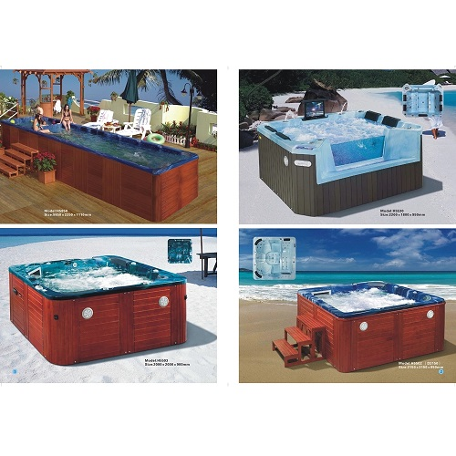 high quality H-5315 3seat surfing and bubble nuzzle bathtub outdoor Whirlpool