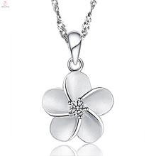 Sterling 925 Silber Kette Blume Schmuck Halskette
