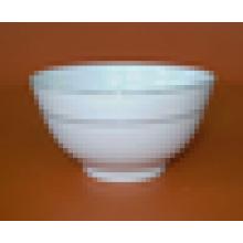 bol à pied en céramique blanche avec ligne d'or