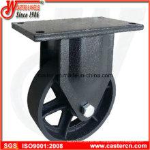 Ruedas rígidas de 6 pulgadas a 8 pulgadas de basura con rueda de hierro