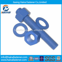 PTFE carbon steel teflon stud bolt with nut