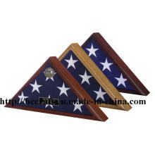 Caixa de exposição de madeira nova da bandeira para a decoração Home