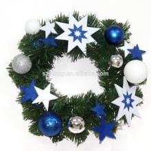 30cm Couronne de Noël à la vente chaude avec décorations