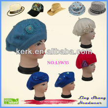 Chapéu quente de feltro de lã quente da venda 100%, lsw35