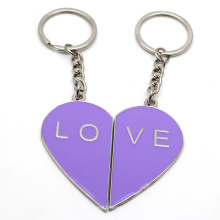 Top sell personalized custom metal heart keychain