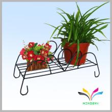 Fuente de jardín al aire libre de interior Soporte del flor de la flor del hierro para la planta
