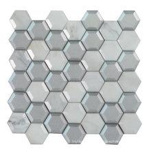 Hexagon Stone Edge Polishing Cold Spray Glass Marble Mosaic Tile