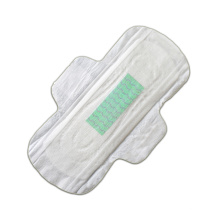 Hypoallergenic natural sanitary pad with negative ion