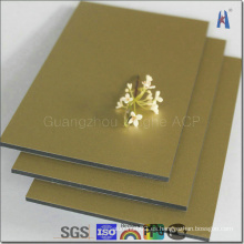 Oro 2015 ACP Aluminio Material del panel compuesto
