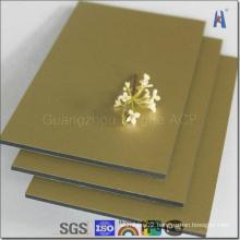 Interior Decoration Gold Mirror Aluminum Composite Panel Manufacturer