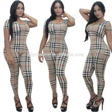2016 femmes européennes mode jumpsuit sexy lady stripe summer playsuit robe femmes casual