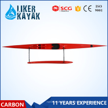 Fibra de carbono Surfski Outrigger canoa com flutuador