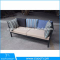 Exposed Tube Powder Coating Frame 3 Seater Sofa
