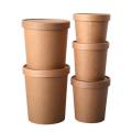 Copo de papel balde descartável de material ecológico de parede única para bebidas quentes e frias copo de papel de embalagem de alimentos para viagem