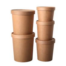 Paper cup single wall eco-friendly material disposable paper bucket for hot and cold drink takeaway food packaging paper cup