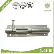 Pestillo de seguridad de la puerta de acero con cierre deslizante Perno del barril