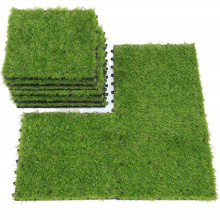 Automated Manufacturing Outdoor PE material garden artificial grass/decorative grass tiles
