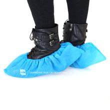 Hohe Qualität Mit CE FDA ISO zugelassenen Labor blau Einweg-CPE Kunststoff Schuhabdeckungen