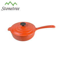 White Enamel Cast Iron Cooking Pot With Handle, Enameled Cast Iron Cooking Pots, Cookware Cocotte