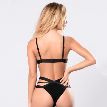 Sexy Fancy Blumenstickerei BH & Tanga Set