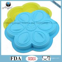 Bakeware do silicone da flor de DIY para o uso Sc53 do frigorífico e do forno de microonda
