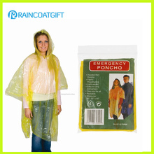 Yellow Cheap Disposable Women′s Rain Poncho