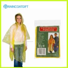 Poncho de chuva de mulheres descartáveis barato amarelo