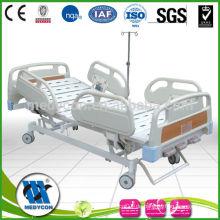 MDK-T211 drei Kurbel luxuriöse manuelle Krankenhausbetten ABS kalte Stahlplatte