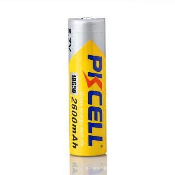 Marca PKCELL 18650 3.7 V baterias de lítio-ion 2600 mah E-cigarro bateria LR03 bateria alcalina AAA 1.5 v baterias