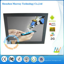 15 inch 4:3 android 3g digital signage display for advertising