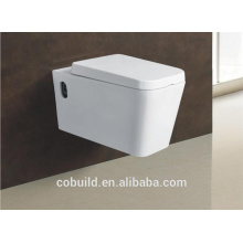 WC bathroom P trap water closet concealed cistern wall hung toilet rectangle Wall-hung Toilet Bowl
