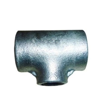 Plain Type Temperguss Rohrfittings Tee