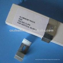 Metallvorhanghalterung - Aluminiumvorhangschiene und Deckenclips für vertikale Jalousien